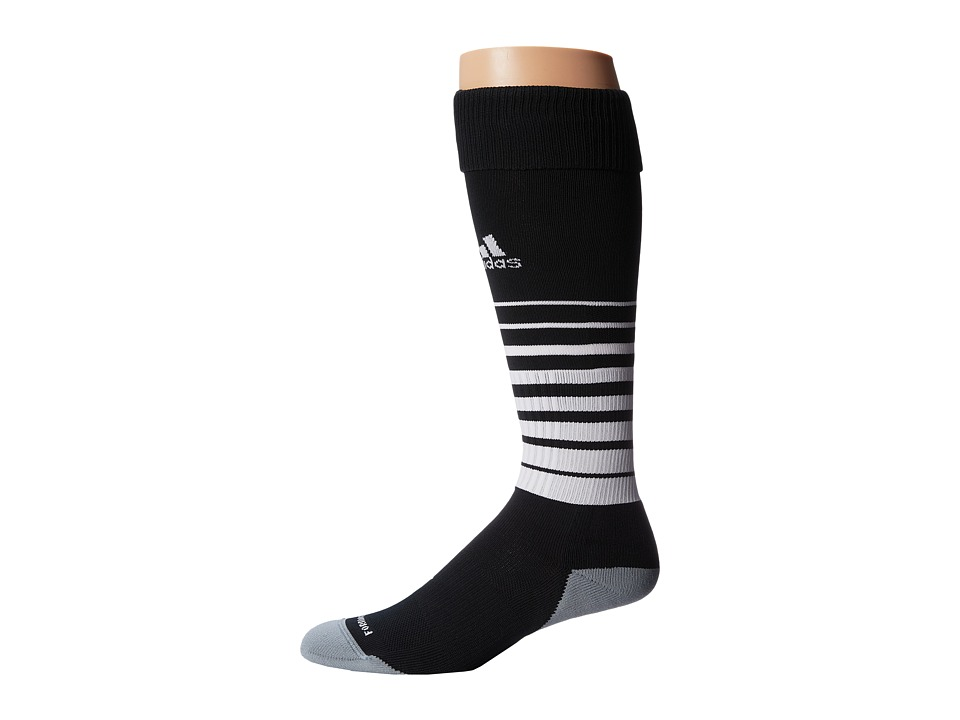 adidas - Team Speed Soccer Sock (Black/White) Knee High Socks Shoes