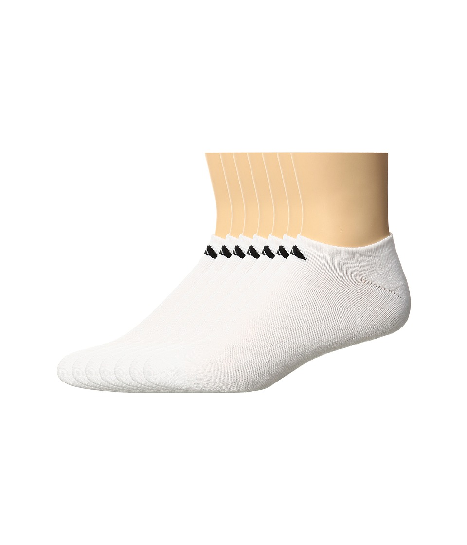 adidas - Athletic 6-Pack No Show Socks (White/Black) Mens No Show Socks Shoes