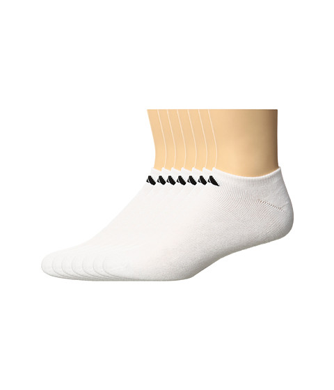 adidas Athletic 6-Pack No Show Socks - White/Black