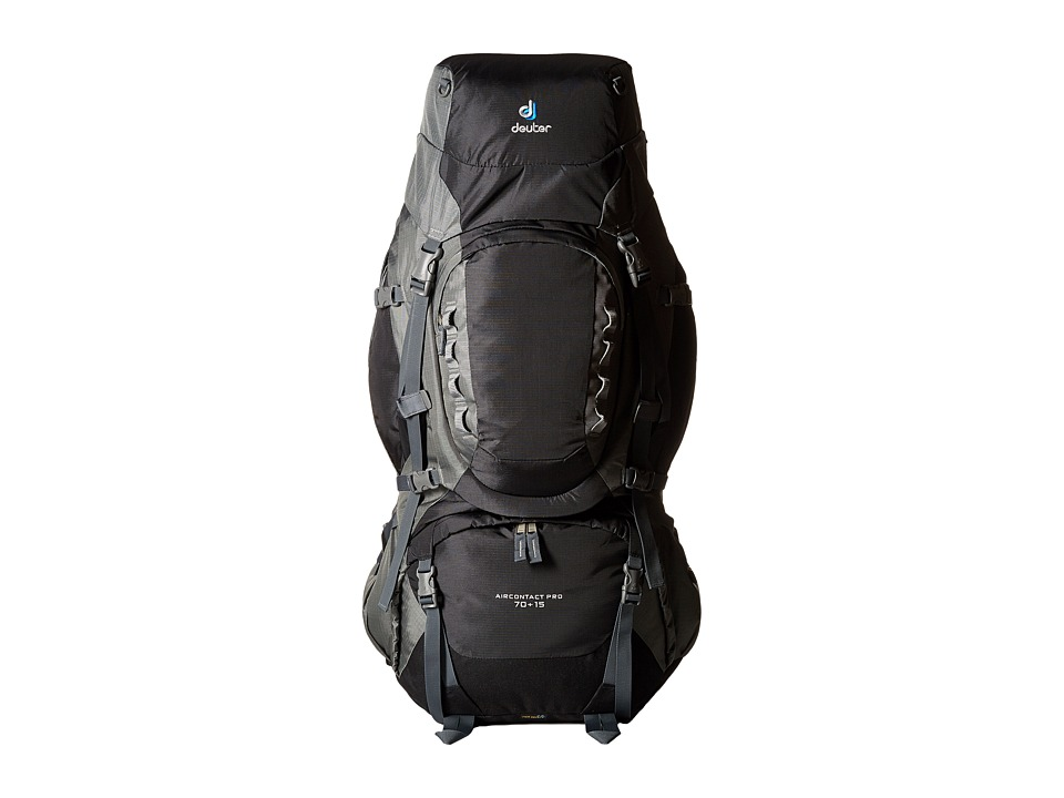 Deuter Aircontact Pro 7015 Black/Titan Backpack Bags