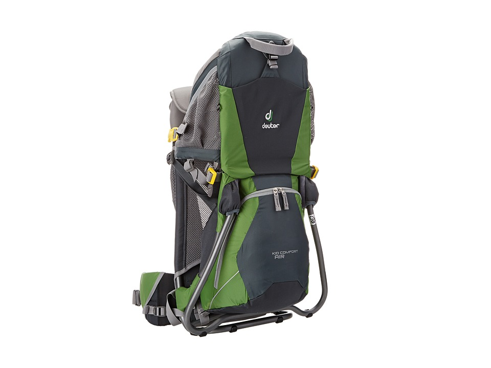 Deuter - Kid Comfort Air Child Carrier (Granite/Emerald) Backpack Bags