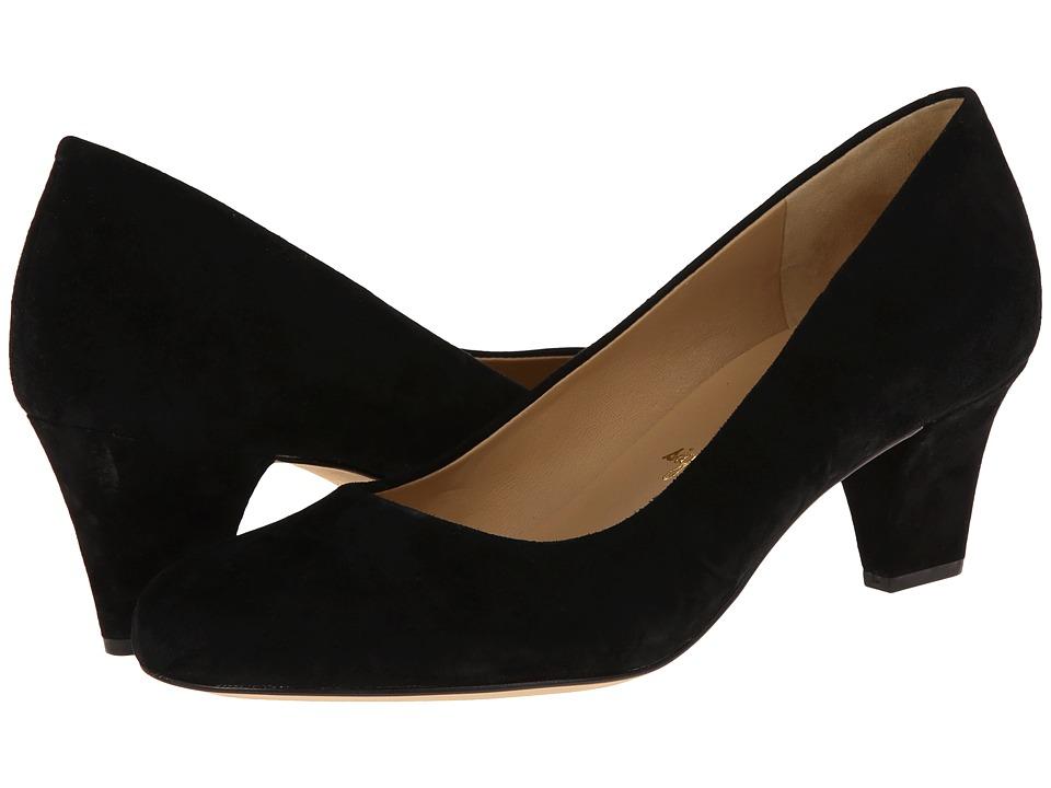 Trotters - Penelope (Black Kid Suede) High Heels