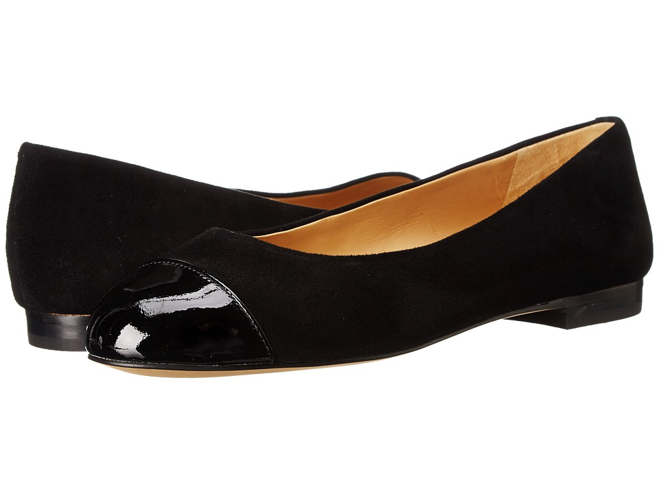 Trotters Chic (Black Suede/Patent Leather) Women