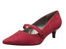 Trotters - Petra (Red Kid Suede/Pearlized Patent Man Made) - Footwear