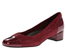 Trotters - Danelle (Dark Red Patent Suede Lizard Leather/Pearlized Patent) - Footwear