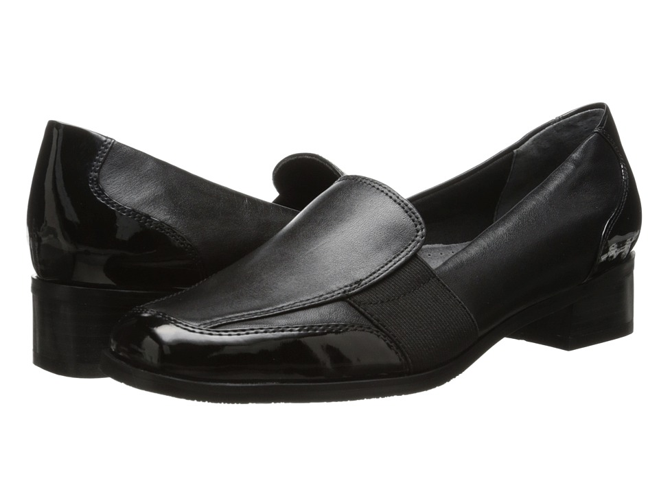 Trotters Arianna Black Patent Leather/Burnished Soft Kid Womens Shoes
