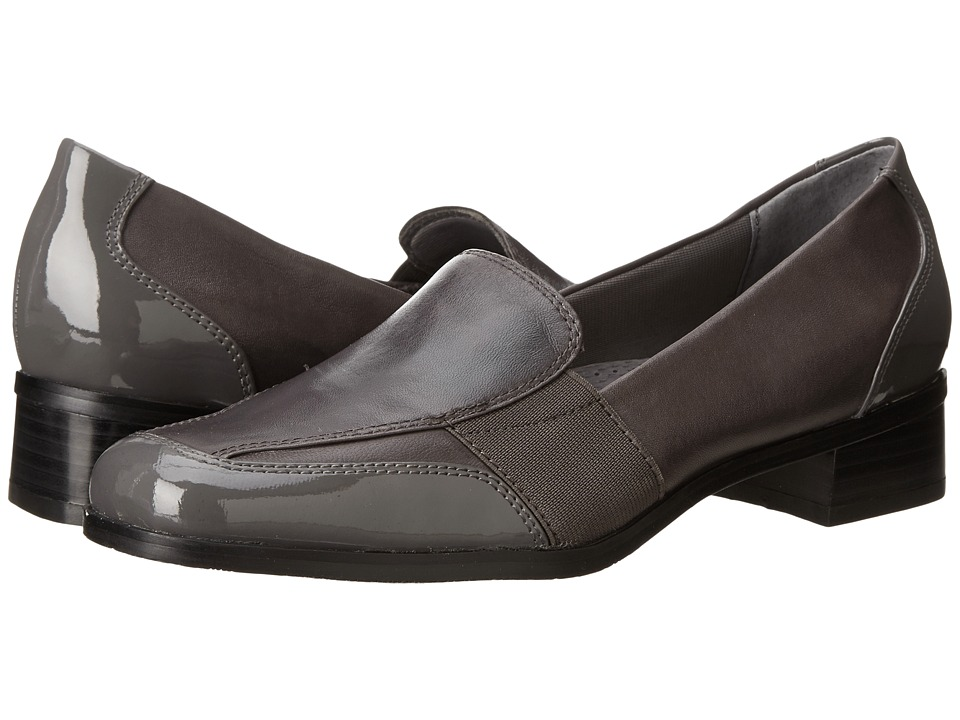 Trotters Arianna Dark Grey Patent Leather/Burnished Soft Kid Womens Shoes
