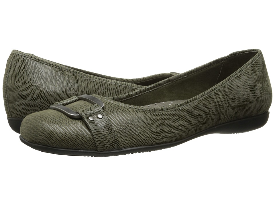 Trotters - Sizzle (Loden Patent Suede Lizard Leather) Women