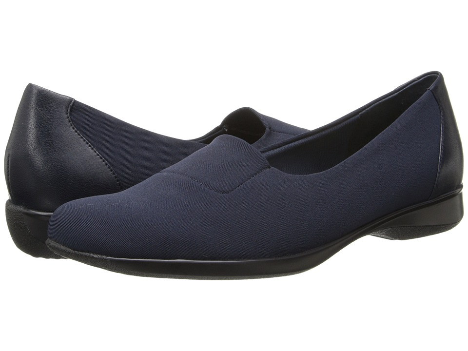 Trotters - Jake (Navy Stretch/Burnished Kid Leather) Women