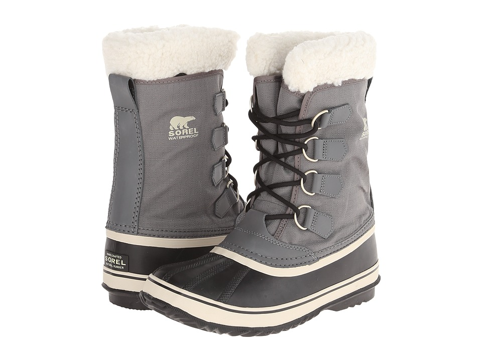 SOREL Winter Carnivaltm (Pewter/Black/Metal Crush/Nappa Wax) Women's Cold Weather Boots