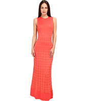 M Missoni - Solid Knit Maxi Dress w/ Cut Outs