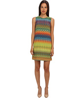 M Missoni - Zig Zag Print Silk Shift Dress