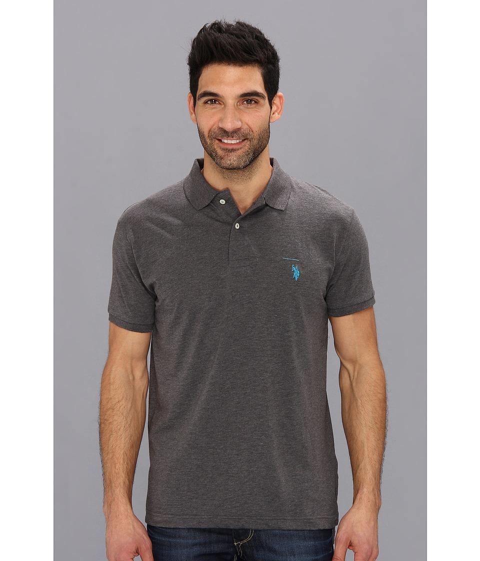 dark gray polo shirt  polo assn. solid