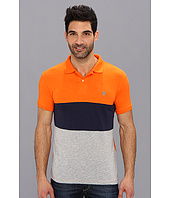 U.S. POLO ASSN. - Wide Stripe Slub Polo
