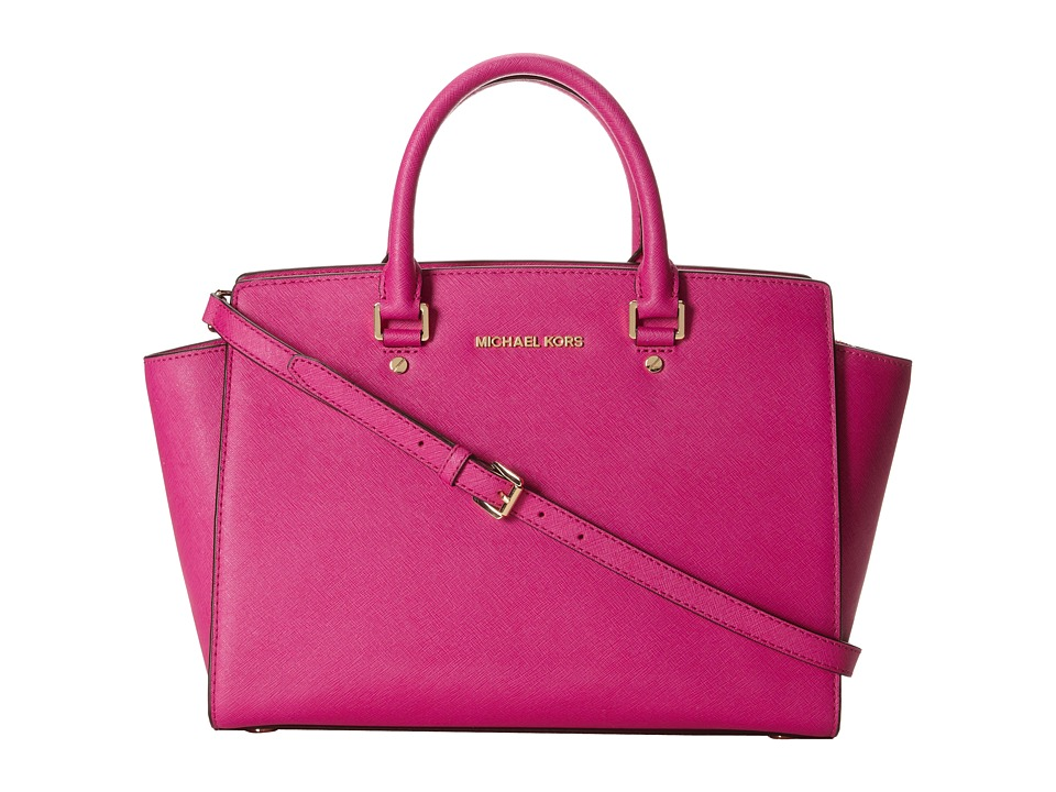 MICHAEL Michael Kors Selma (Fuchsia) Satchel Handbags