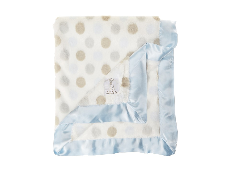 Little Giraffe Luxe Dot Baby Blanket (Blue) Sheets Bedding
