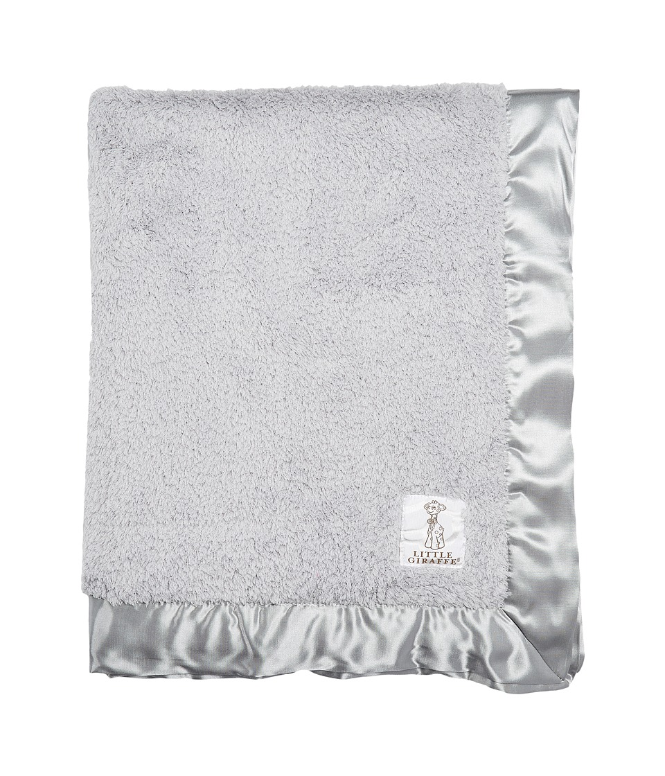 Little Giraffe Chenille Baby Blanket Silver Sheets Bedding