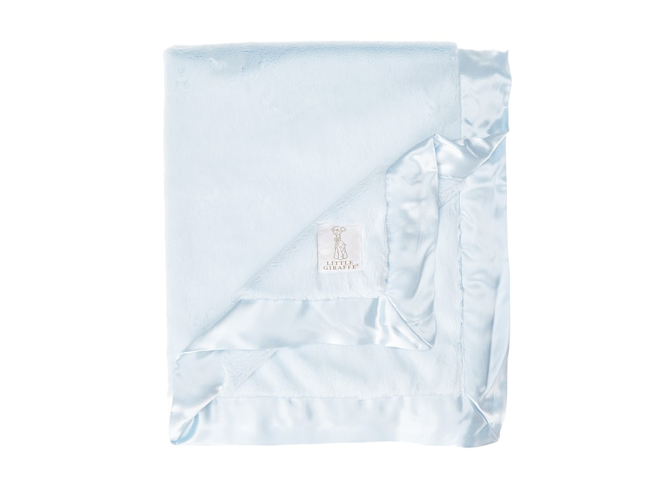 Little Giraffe Luxe Baby Blanket (Blue) Sheets Bedding