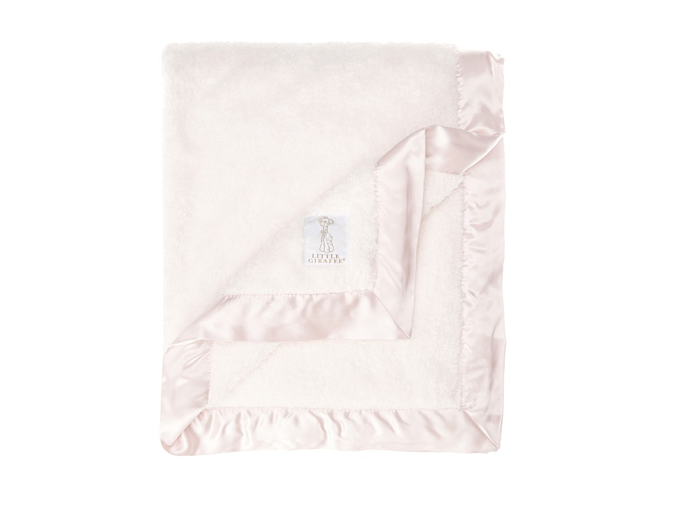 Little Giraffe Chenille Baby Blanket Pink Sheets Bedding