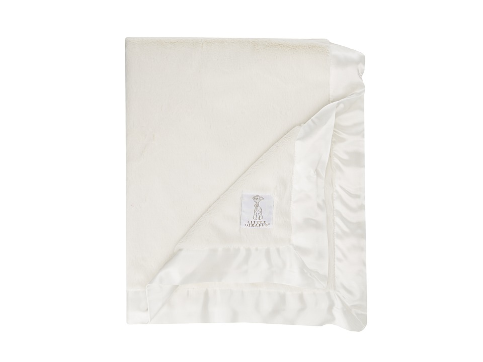 Little Giraffe Luxe Baby Blanket (Cream) Sheets Bedding