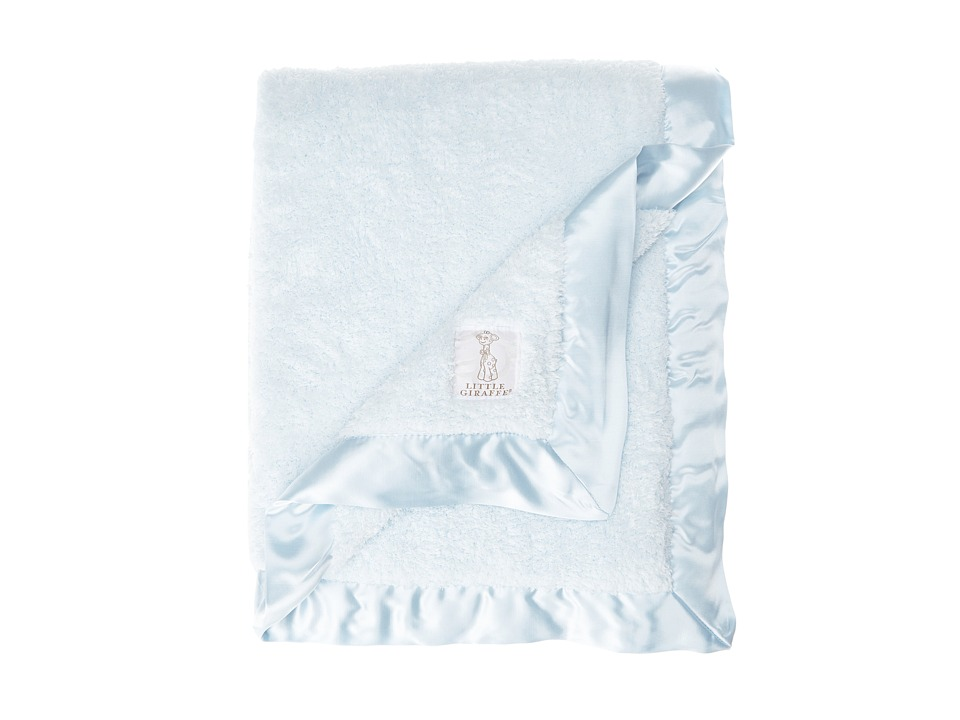 Little Giraffe Chenille Baby Blanket Blue Sheets Bedding