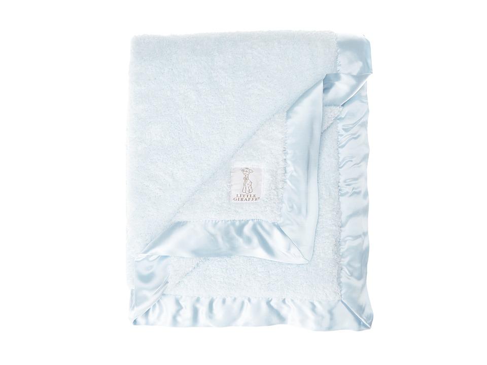 Little Giraffe Chenille Baby Blanket Blue Sheets Bedding