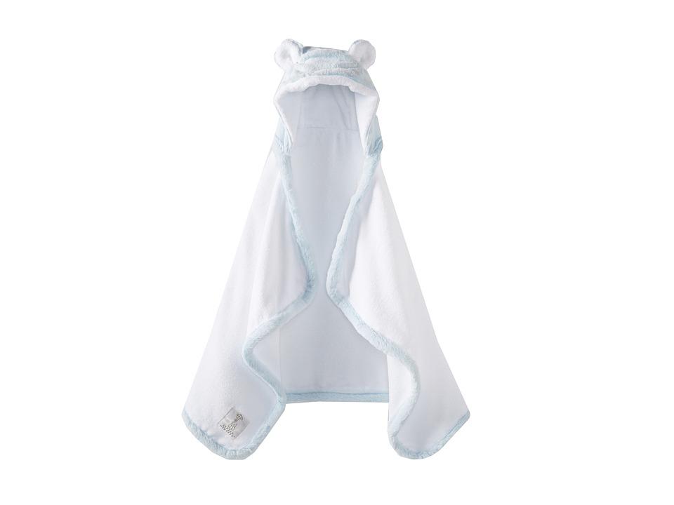 Little Giraffe Luxe Towel with Ears (Blue) Bath Towels