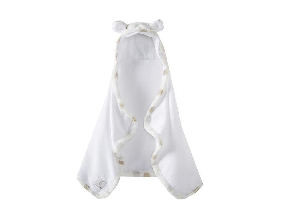 Little Giraffe Luxe Towel with Ears (Blue Dot) Bath Towels