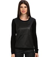 Armani Jeans - Crew Neck Eco Leather Wool Sweater