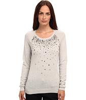 Armani Jeans - Scoop Neck Crystal Crew Neck Cashmere Sweater