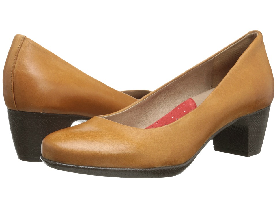 SoftWalk Imperial Cognac Soft Dull Leather Womens 1 2 inch heel Shoes