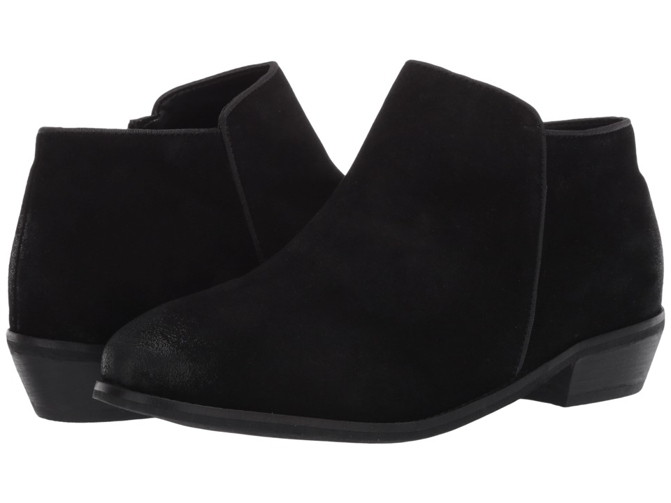 SoftWalk Rocklin Black Cow Suede Leather Womens Shoes