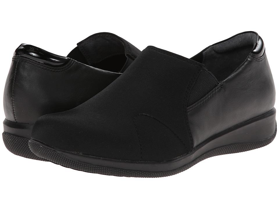 SoftWalk Tilton Black Stretch/Patent Leather/Burnished Soft Kid Womens Shoes