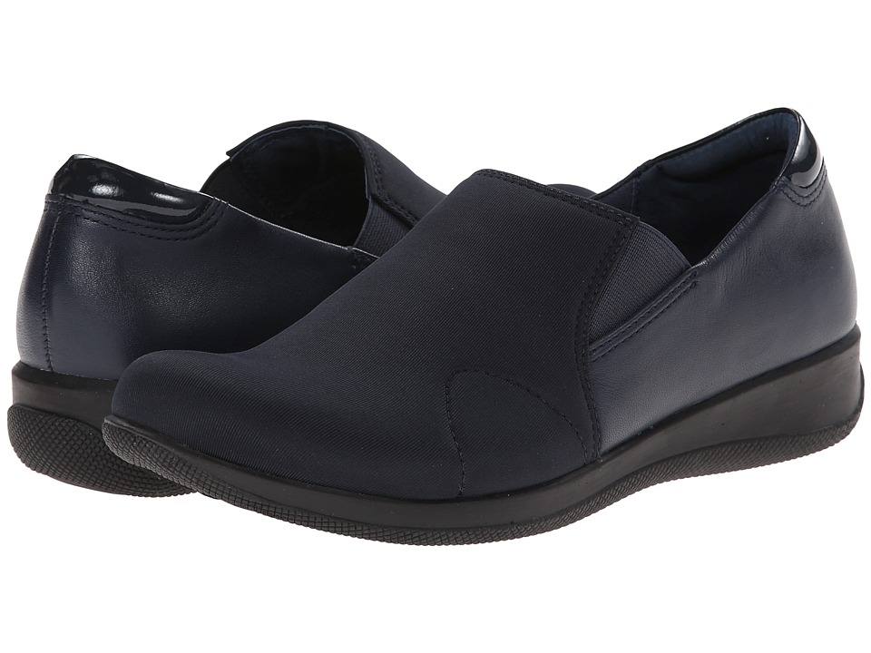 SoftWalk Tilton Navy Stretch/Patent Leather/Burnished Soft Kid Womens Shoes