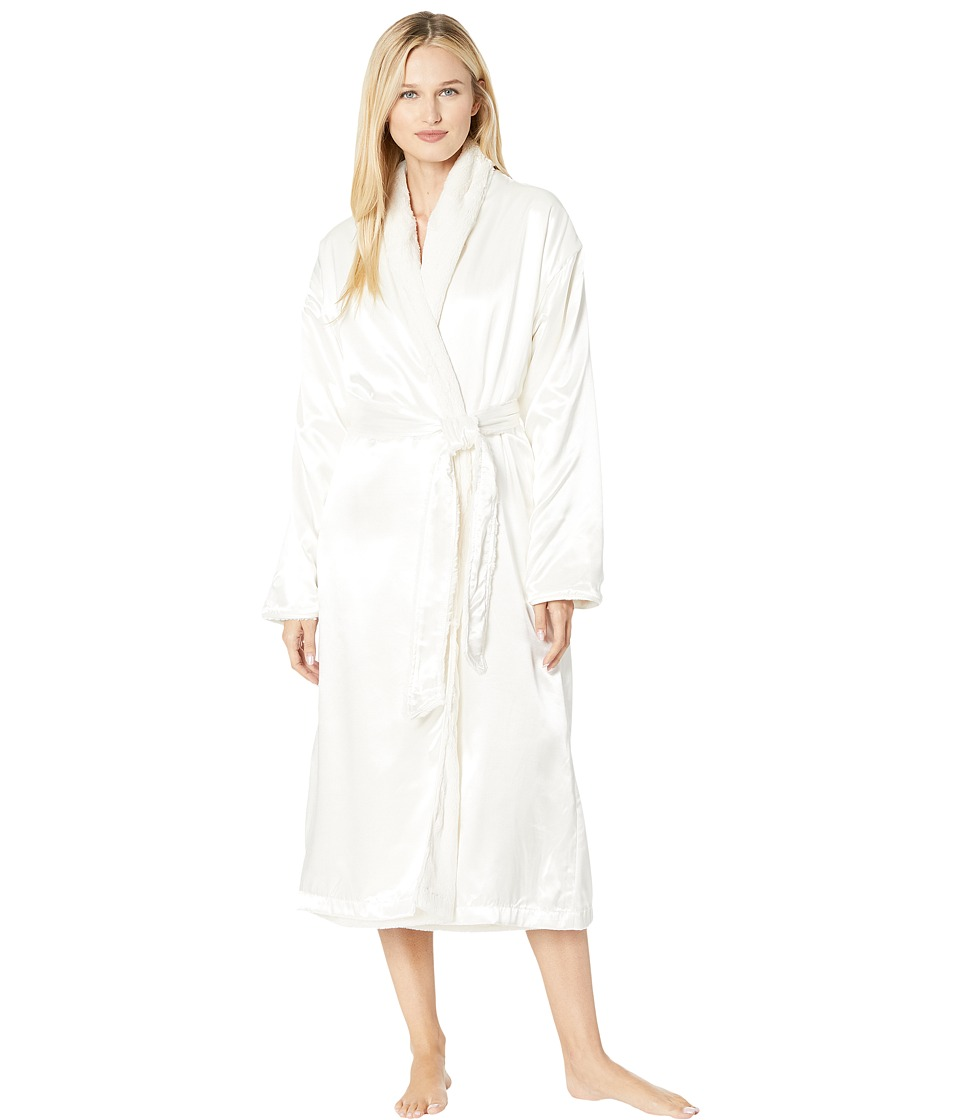 Little Giraffe - Luxe Satin Cover-up Adult (Cream) Womens Robe