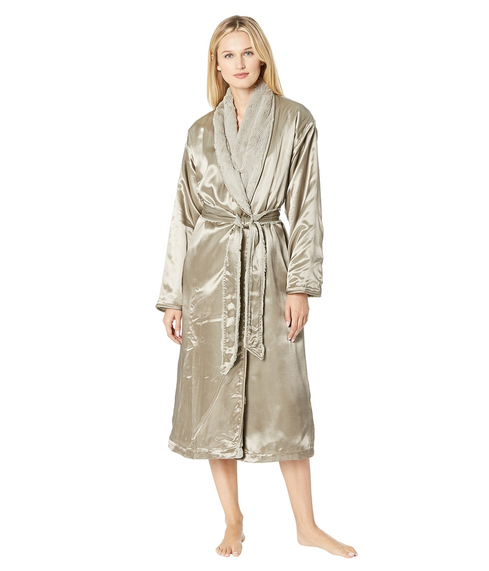 Little Giraffe Luxe Satin Cover-up Adult (Flax) Women's Robe