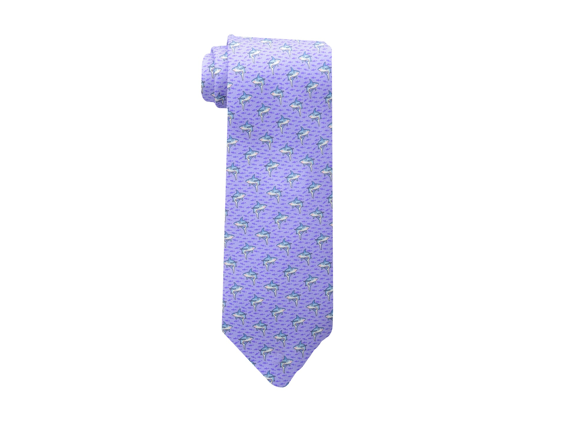 vineyard vines printed tie sharks minnows 58 quot purple