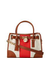 MICHAEL Michael Kors - Hamilton Mono Stripe East/West Satchel