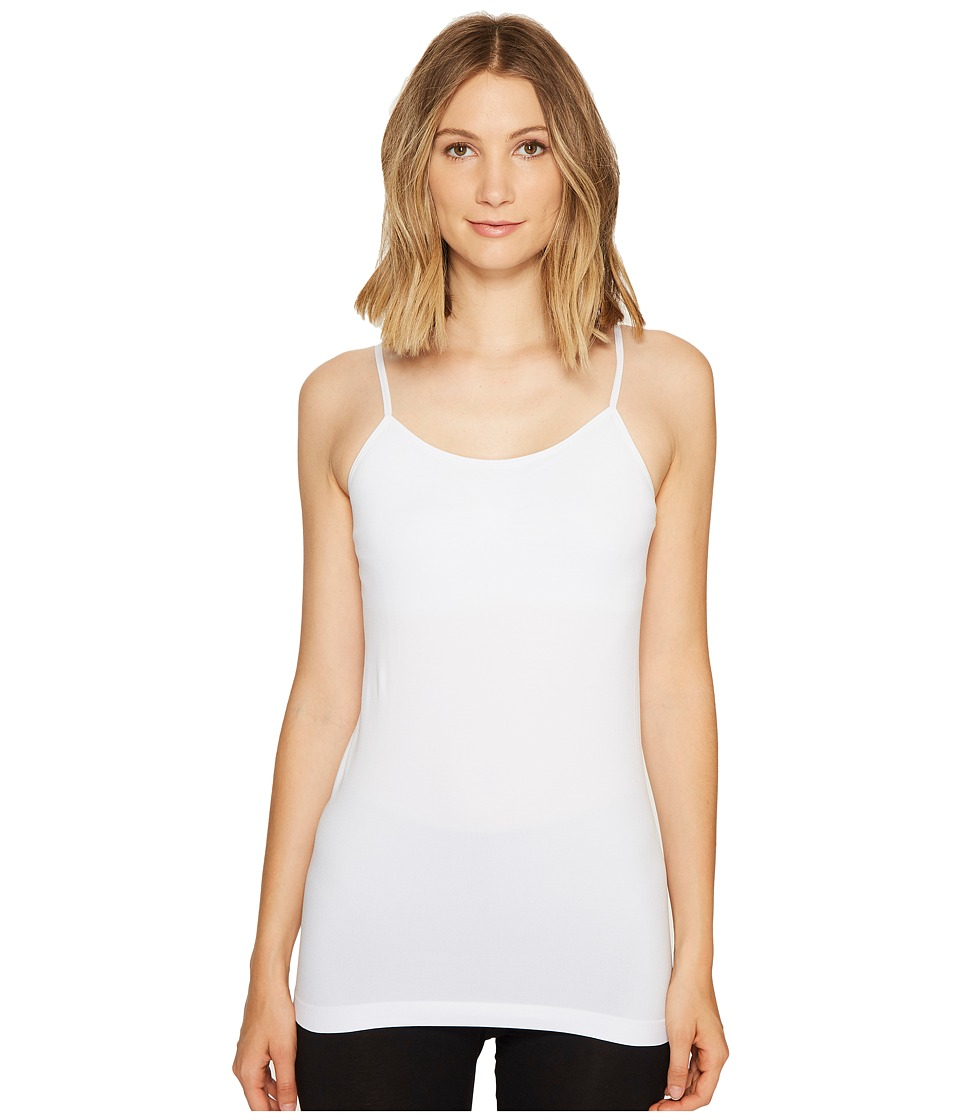 Coobie Cami w/ Shelf Bra White Womens Sleeveless