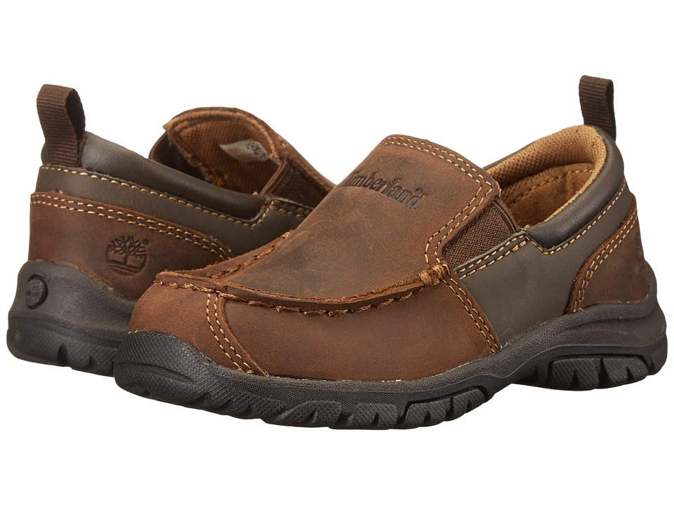 Timberland Kids - Discovery Pass Slip-On (Toddler/Little Kid) (Brown) Boys Shoes
