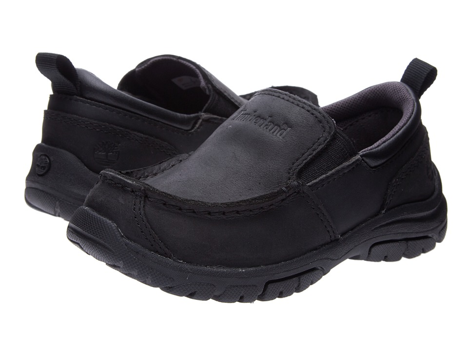 Timberland Kids - Discovery Pass Slip-On (Toddler/Little Kid) (Black) Boys Shoes