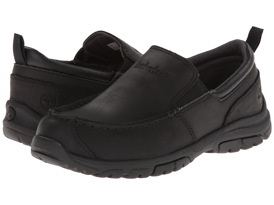Timberland Kids - Discovery Pass Slip-On (Little Kid) (Black) Boys Shoes