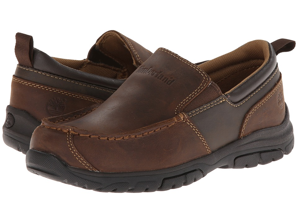 Timberland Kids - Discovery Pass Slip-On (Little Kid) (Brown) Boys Shoes