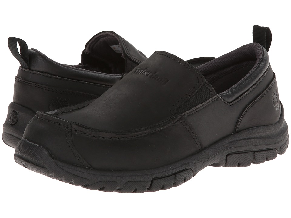 Timberland Kids - Discovery Pass Slip-On (Big Kid) (Black) Boys Shoes