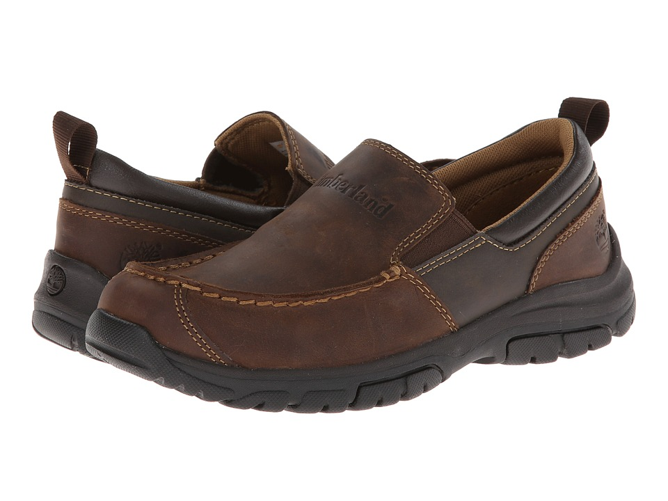 Timberland Kids Discovery Pass Slip-On (Big Kid) (Brown) Boys Shoes