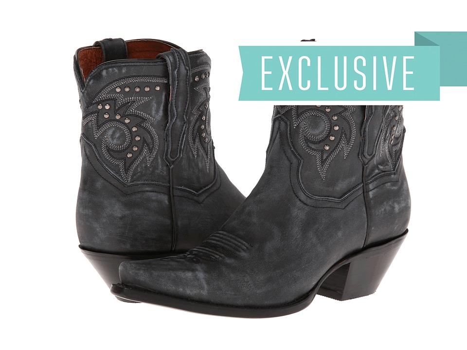 Dan Post - Flat Iron Studs (Graphite Vintage) Cowboy Boots
