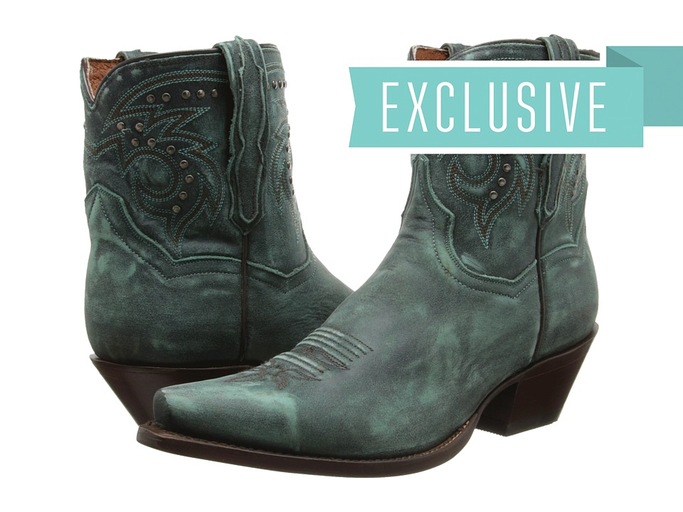 Dan Post Flat Iron Studs (Turquoise Vintage) Cowboy Boots
