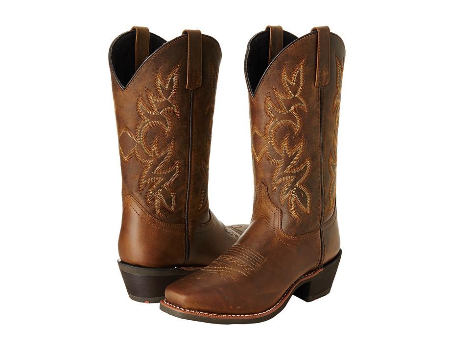 Laredo Breakout Tan Distressed Cowboy Boots