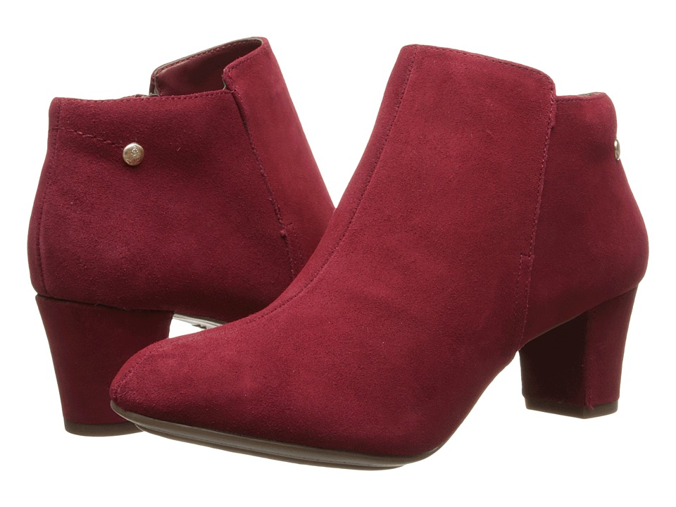 Hush Puppies Corie Imagery (Dark Red Suede) Women's Shoes