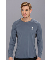 U.S. POLO ASSN. - Long Sleeve Paneled Performance Crewneck Raglan With Poly Micro Mesh Insert